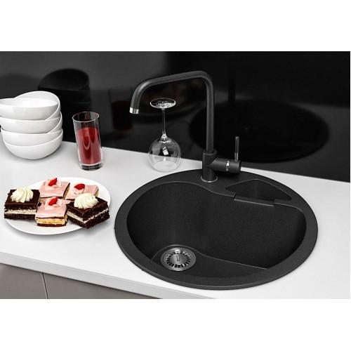 Кухонная мойка гранитная Stella Classic цвет черный